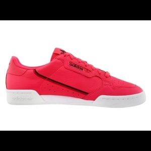 ADIDAS Continental 80. Shocking red. Size 8.5 W